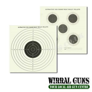 BISLEY DOUBLE SIDED 5 & 1 - GRADE 1 CARD TARGETS x 50