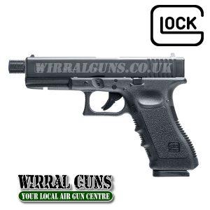Glock 17 Dual Ammo Threaded - 4.5mm BB & .177 Pellet Air Pistol