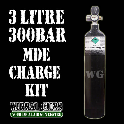 3 Litre 300 Bar Air Gun Charging Kit - MDE
