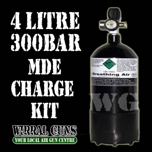 4 Litre 300 Bar Air Gun Charging Kit - MDE