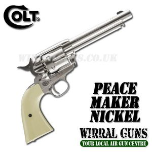 COLT SAA PEACEMAKER SINGLE ACTION ARMY .177 - NICKEL